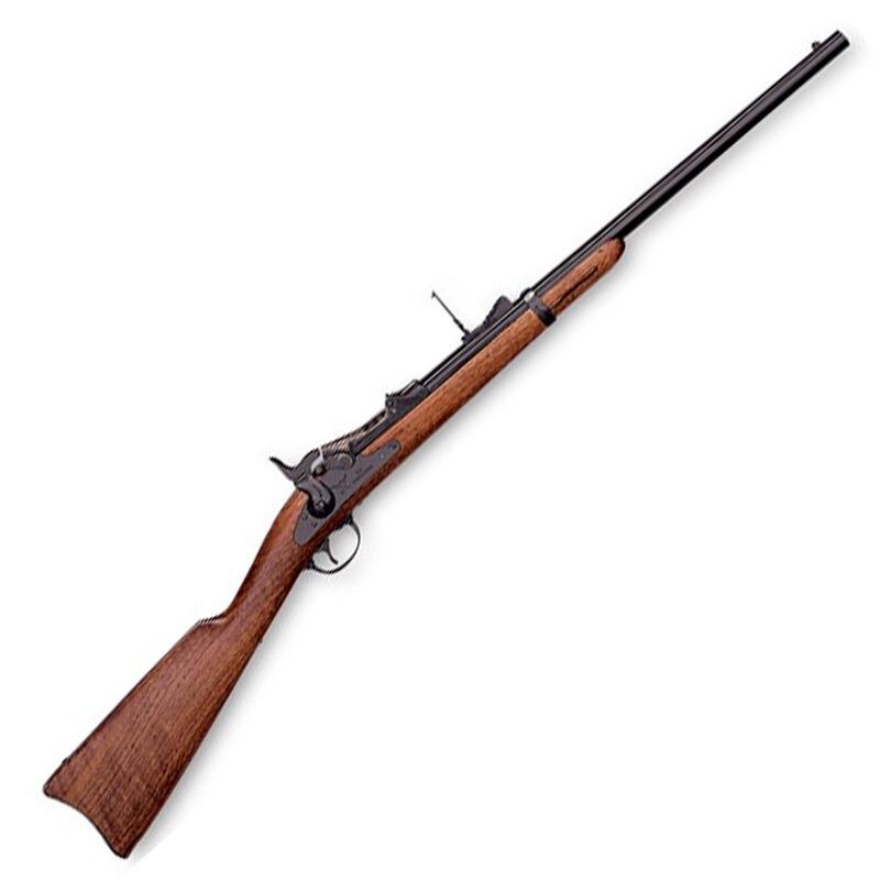"Pedersoli Springfield 1873 Trapdoor Cavalry Carbine Rifle .45-70 Govt 22"" Octagon Barrel 1 Round Walnut Stock Blued S.900-457"