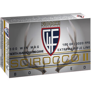 Fiocchi Extrema Rifle Line .300 Win Mag Ammunition 20 Rounds 180 Grain Scirocco II Polymer Tipped Bullet 3020fps