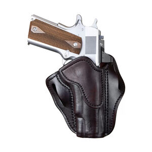 1791 Gunleather Optics Ready Open Top Multi-Fit OWB Belt Holster for Full Size 1911 Semi Auto Models Right Hand Draw Leather Signature Brown