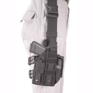 BLACKHAWK! Nylon Omega VI Ultra Universal Modular Light Ambidextrous Tactical Drop Leg Holster Black 40MLH1BK