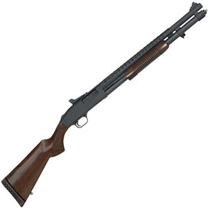"Mossberg 590A1 Retro Pump Action Shotgun 12 Gauge 20"" Barrel 3"" Chamber 8 Rounds Ghost Ring Sights Walnut Stock Black Finish"