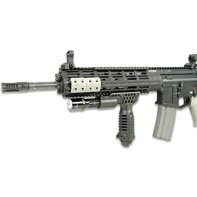 MAKO AR-15 Vertical Foregrip with Bipod, Light Adapter