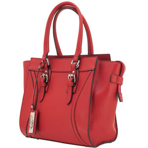 "Cameleon Aphaea Handbag with Concealed Carry Gun Compartment 10.5""x10.5""x7"" Synthetic Leather Red"