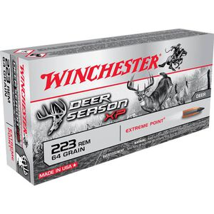 Winchester Deer Season XP .223 Remington Ammunition 64 Grain Extreme Point Polymer Tip 302