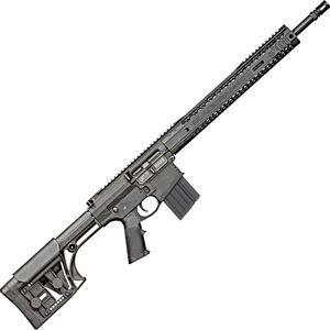 "Black Rain BRO Fallout10 - Standard Issue 6.5 Creedmoor AR Style Semi Auto Rifle 18"" Barrel 10 Rounds M-LOK Hybrid Handguard Luth-AR MBA1 Rifle Stock Black"