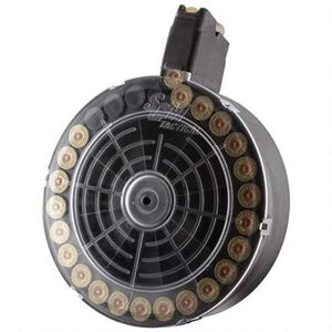 "SGM Tactical VEPR 12 Gauge Shotgun 25 Rounds Drum Magazine 2.75"" Shells Only Polymer Matte Black"