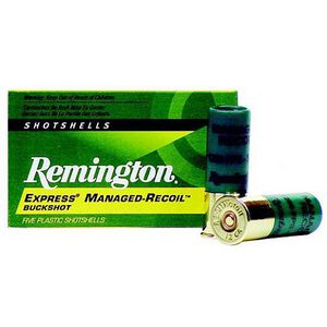 "Remington 12 Gauge Ammunition 5 Rounds 2.75"" 8 Pellets 00 Buckshot"