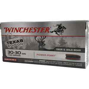 Winchester Super X .30-30 Winchester Ammunition 200 Rounds Texas Edition Power Point 150 Grains