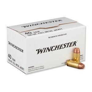 Winchester USA .40 S&W Ammunition 200 Rounds, FMJ, 165 Grain