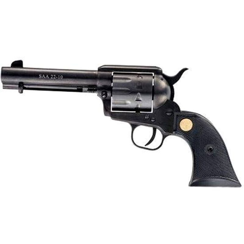 "Chiappa Firearms 1873-22 Dual Cylinder Single Action Revolver .22 Long Rifle, .22 Magnum 7.5"" Barrel 10 Rounds Plastic Grip Blued Finish CF340.170D"
