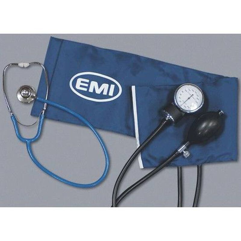 Emergency Medical International Dual Head Stethoscope Black 943