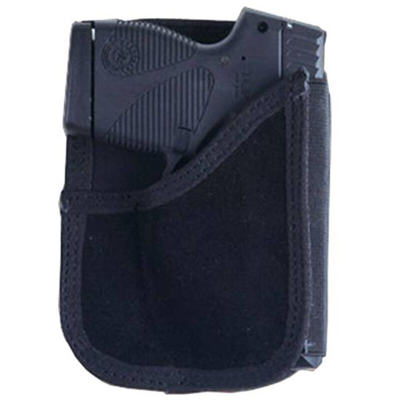 Bulldog Cases Wallet Holster Mini Autos Right Hand Nylon/Leather Black BD-CWH