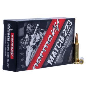 Norma USA Match .223 Remington Ammunition 20 Rounds 77 Grain Sierra Match King Hollow Point 2790fps