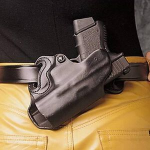 DeSantis Small of Back Holster GLOCK 26/27/33 Taurus PT111/PT140 OWB Belt Holster Right Hand Leather Black