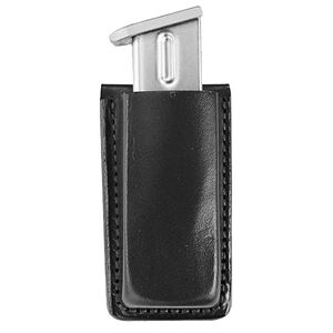 Bianchi Open Top Magazine Pouch Fits GLOCK 19/17 Leather Black