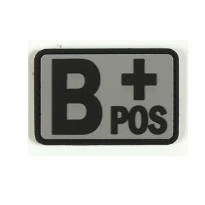 Voodoo Tactical Blood Type Patch B + POS TPR Rubber Gray