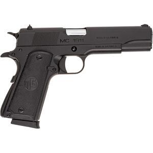 "EAA Girsan MC1911S .45 ACP 1911 Semi Auto Pistol 5"" Barrel 8 Rounds Full Sized Government Profile Novak Style Sights Steel Frame Matte Black Finish"