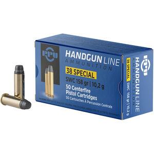Prvi Partizan PPU .38 Special Ammunition 50 Rounds 158 Grain SWC 902fps