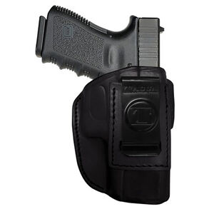 Tagua Gun Leather 4 In 1 Inside Waistband Holster For GLOCK 43 Leather Right Hand Black IPH4-355