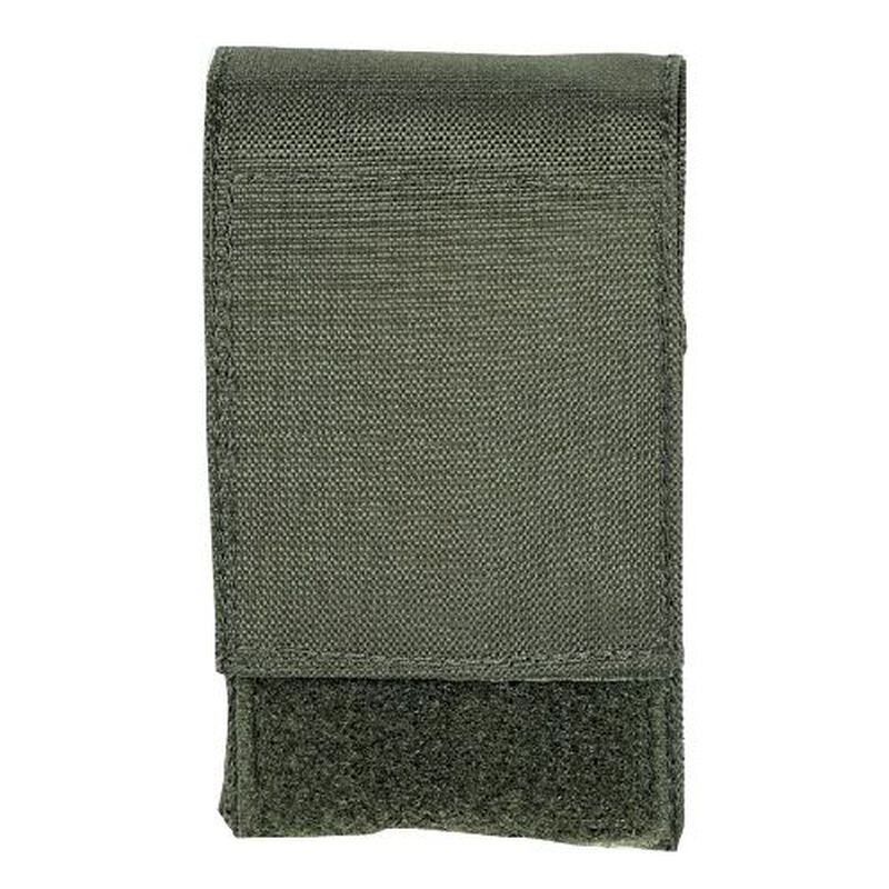 Voodoo Tactical .308 Precision Rifle Single 10 Round Magazine Pouch Hook/Loop Flap MOLLE Webbing Compatible Nylon OD Green