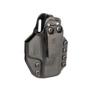 BLACKHAWK! Stache IWB Base Kit Glock 48 and S&W Shield EZ 9mm/.380 Ambi Holster Polymer Black