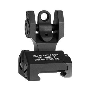 Troy Industries AR-15 Rear Folding Battle Sight Black Oxide Finish SSIG-FBS-R0BT-00