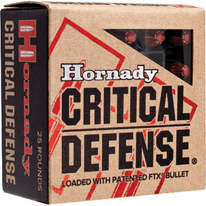 Hornady Critical Defense .40 S&W Ammunition 20 Rounds FTX HP 165 Grains 91340