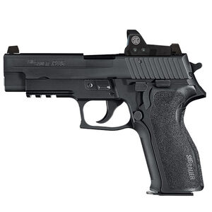 "SIG Sauer P226 RX Semi Automatic Handgun 9mm Luger 4.4"" Barrel 15 Rounds Tall SIGLITE Night Sites Romeo1 Reflex Sight M1913 Accessory Rail Nitron Finish Matte Black"