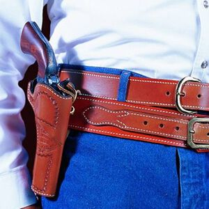 """DeSantis Doc Holiday Belt Holster Ruger Vaquero 3.5"""" Right Hand Leather Tan 081TC53Z0"""