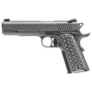 "SIG Sauer 1911 'We The People' Semi Auto Handgun .45 ACP 5"" Barrel 7 Rounds Custom Aluminum Star Grips SIGLite Sight Stainless Steel Slide/Frame Distressed Finish"