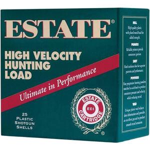 """Estate Cartridge High Velocity Magnum Steel Load 12 Gauge Ammunition 3"""" Shell #4 Steel Shot 1-1/4oz 1425fps"""