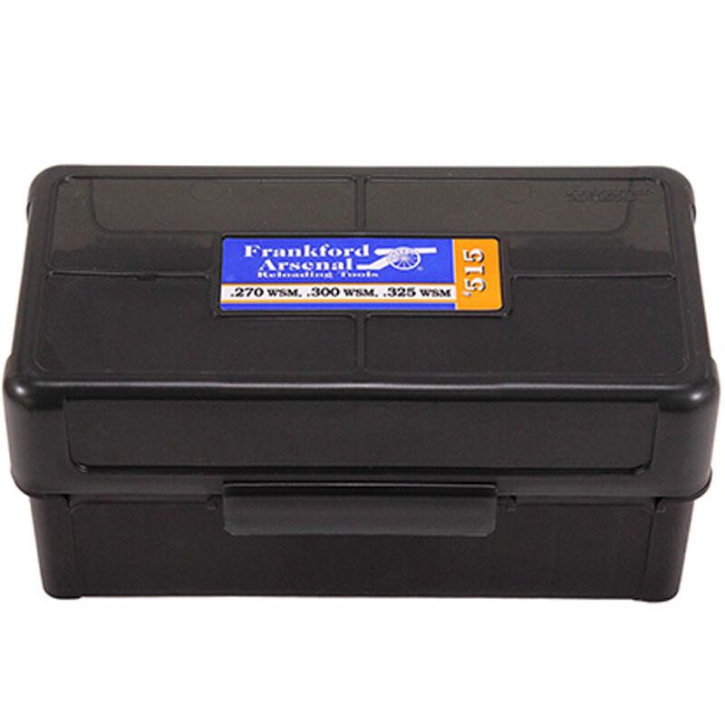 Frankford Arsenal Plastic Hinge-Top Ammo Box 50 Round WSM and SAUM Calibers Polymer Gray