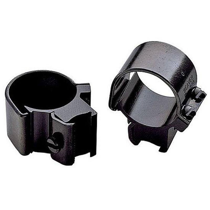 """Weaver .22 Tip-Off 3/8"""" Dovetail Scope Rings Medium Gloss Black 49819"""