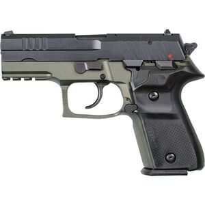 """FIME Group Rex Zero 1CP 9mm Luger Compact Semi Auto Pistol 3.85"""" Barrel 15 Rounds Metal Frame Two Tone OD Green/Black Finish"""