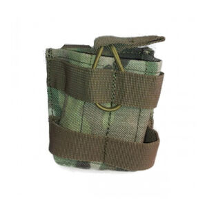 Voodoo Tactical M14/M1A/FAL/AR-10 Open Top Single Magazine Pouch Bungee Retention System MOLLE/PALS Webbing Compatible Nylon Multi-Cam