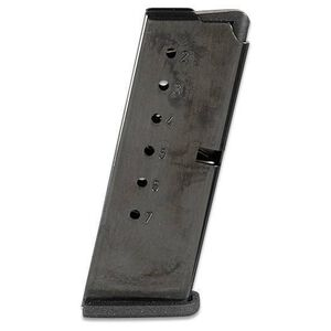 Kel-Tec PF-9 Pistol 7 Round Magazine 9mm Luger Flat Polymer Base Plate Steel Body Blued Finish