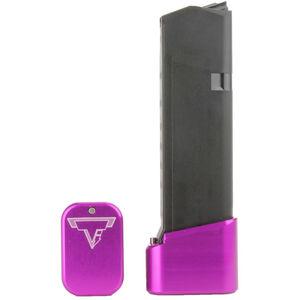 Taran Tactical Innovations +4/+5 GLOCK 19/23 Firepower Base Pad Kit Titanium Purple