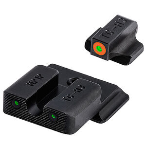 TRUGLO TRITIUM PRO Night Sights (Orange) For S&W Bodyguard 380 Orange Front Sight Ring Green Sights Black Bases
