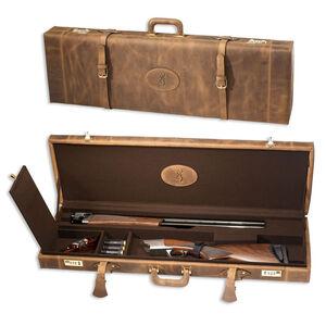 Browning Crazy Horse Universal Shotgun Locking Hard Case Leather Brown 1424208408