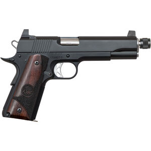 "Dan Wesson 1911 Vigil Suppressor Ready .45 ACP Semi Auto Pistol 5.75"" Barrel 8 Rounds High Front Night Sight/High Rear Sight Wood Grips Forged Aluminum Frame Matte Black Finish"