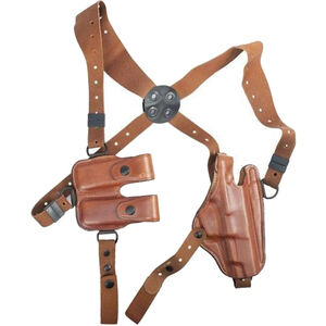 Bianchi X16 Agent Should Holster System Fits Beretta 92FS/M9 Right Hand Leather Tan