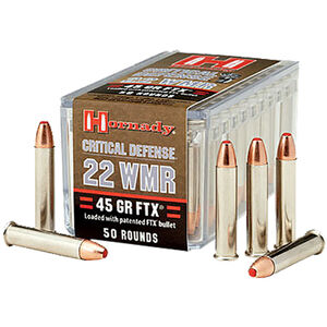 Hornady .22 WMR Ammunition 50 Rounds, FTX, 45 Grains