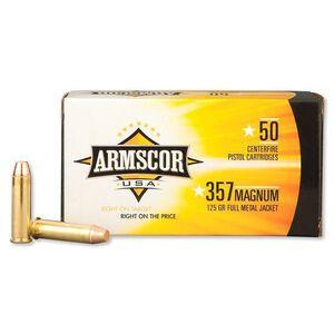Armscor USA .357 Magnum Ammunition 50 Rounds FMJ 125 Grains F AC 357-2N
