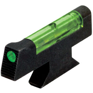 "HiViz LITEWAVE S&W Revolver DX Style Fiber Optic Front Sight .208"" High Green Polymer Black SW3002G"