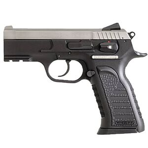 """EAA Witness P Carry Semi Auto Handgun .40 S&W 3.6"""" Barrel 15 Rounds Black Polymer Grips Stainless Finish 600247"""