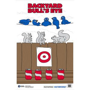 "Action Target Backyard Bull's Eye Paper Target 23""x35"" 100 Count"