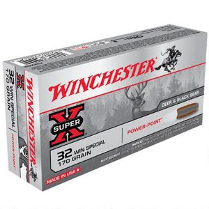 Winchester .32 Winchester Special Ammunition 200 Rounds Super X JSP 170 Grains