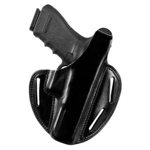 Bianchi 7 Shadow II Pancake-Style Belt Holster Right Hand Fits S&W 411/909 Leather Black