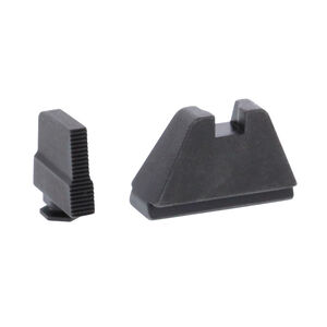 Ameriglo 5XL Tall Sight Set for GLOCK Black Serrated Front and Flat Black
