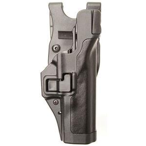 BLACKHAWK! SERPA Level 3 Duty Holster Left Handed for Beretta 92, 96, M9, M9A1 Basketweave Finish Black 44H104BW-L